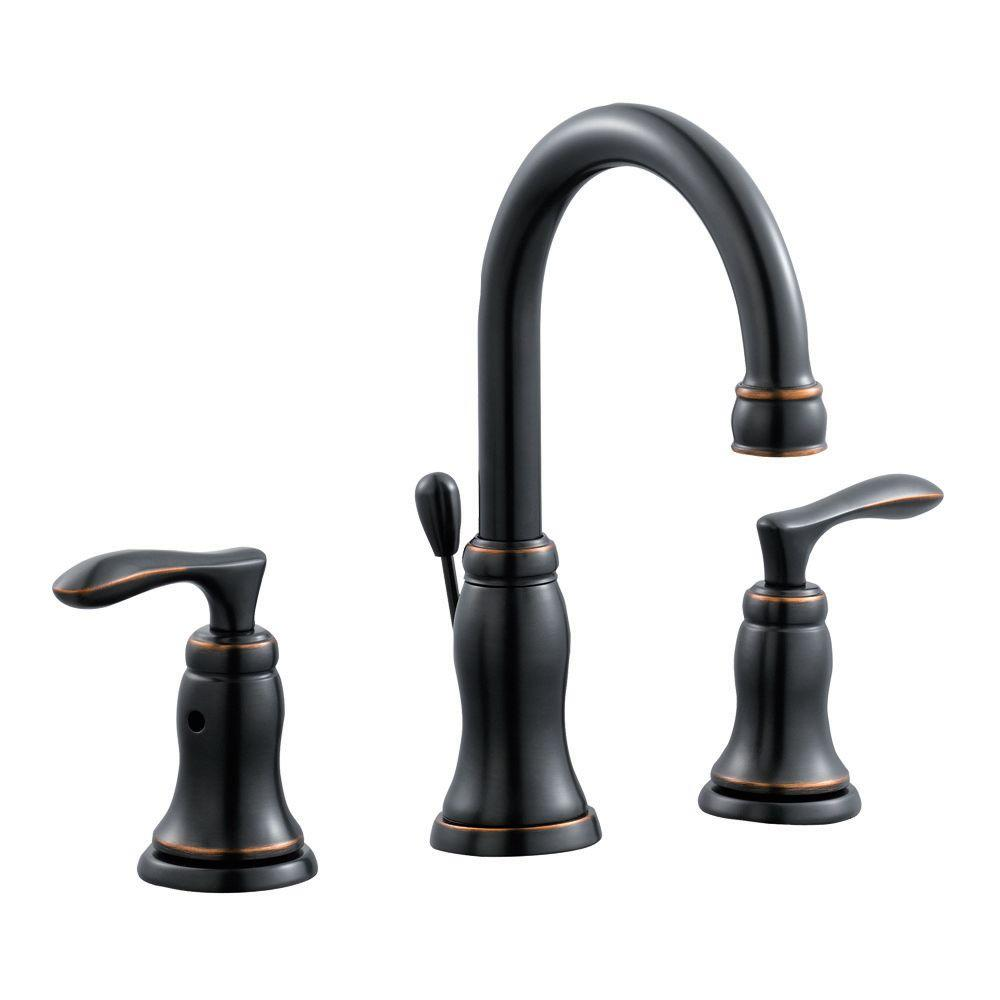 Madison 8 in. Widespread 2-Handle Bathroom Faucet in Oil Rubbed Bronze