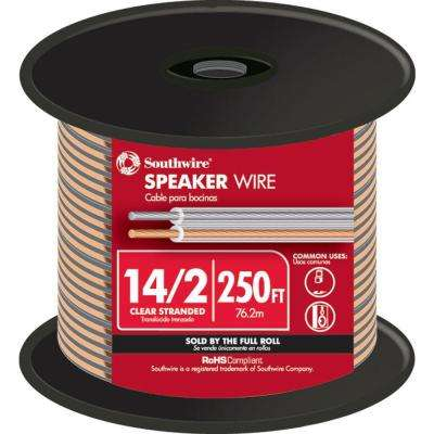 250 ft. 14/2 Clear Stranded CU CL3 Speaker Wire