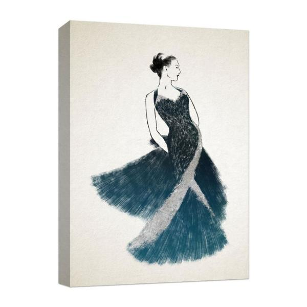 PTM Images 10 in. x 12 in. ''Black in silver dress''