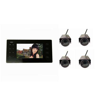 SeqCam 4-Channel Portable Wireless DVR with 4 Cameras
