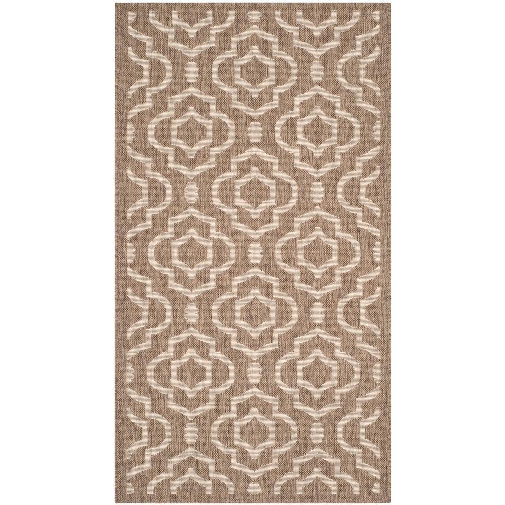 safavieh courtyard brown bone 2 ft 7 in x 5 ft indoor outdoor area rug cy6926 242 3 the