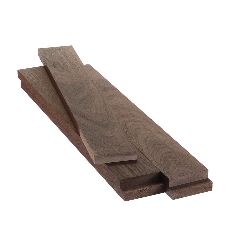 0.75 in. x 1.5 in. x 4 ft. Walnut S4S Board (5-Pack)