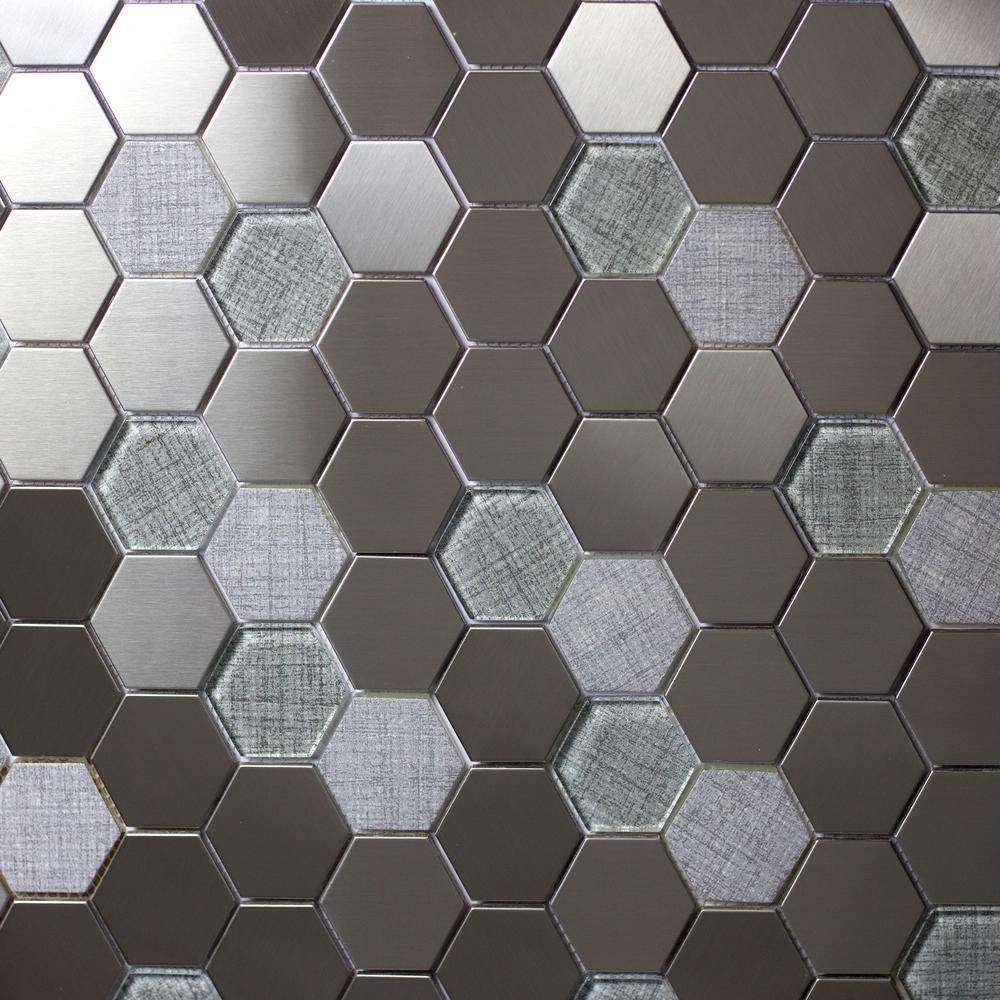 Abolos Enchanted Metals Silver Hexagon