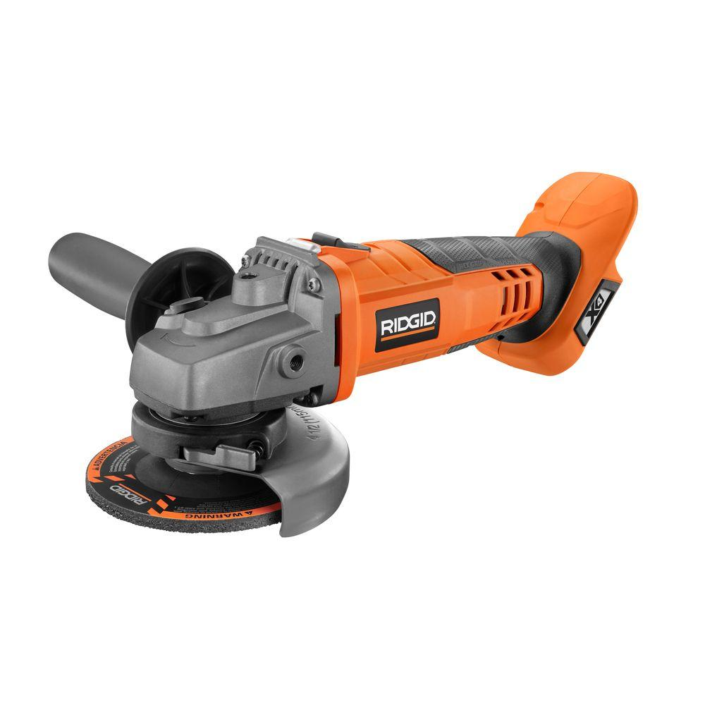 RIDGID 18-Volt Cordless 4-1/2 in. Angle Grinder (Tool Only)