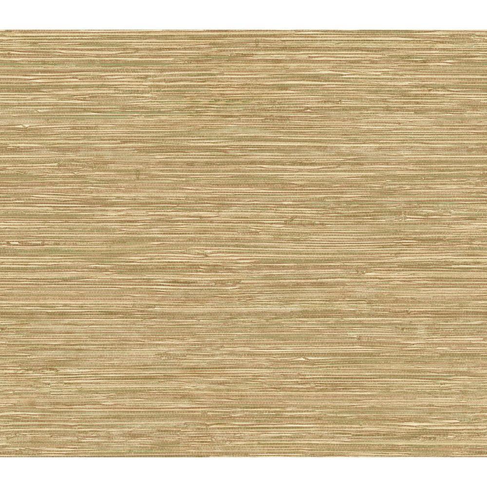 The Wallpaper Company 56 sq. ft. Faux Tan Grass Cloth Wallpaper