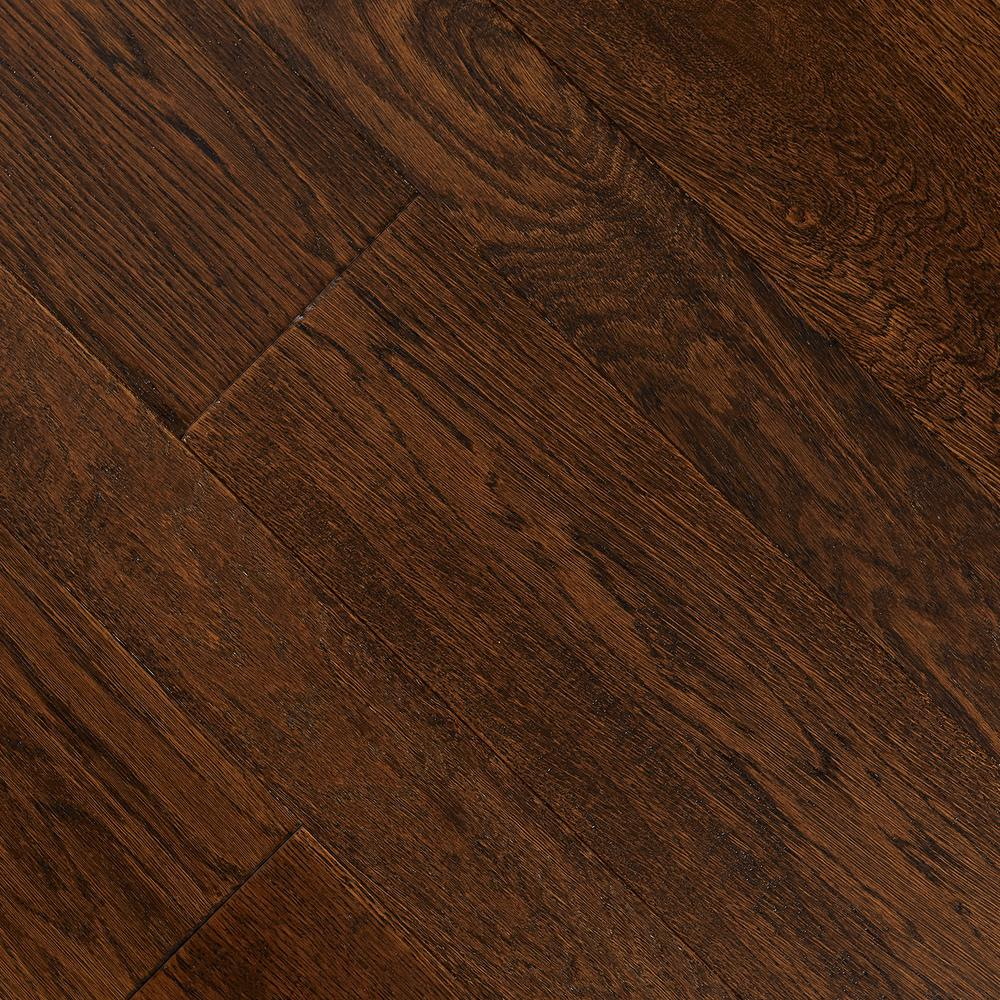 HandScraped Distressed Montecito Oak 3/8 x 3-1/2 x 6-1/2 in. Wx