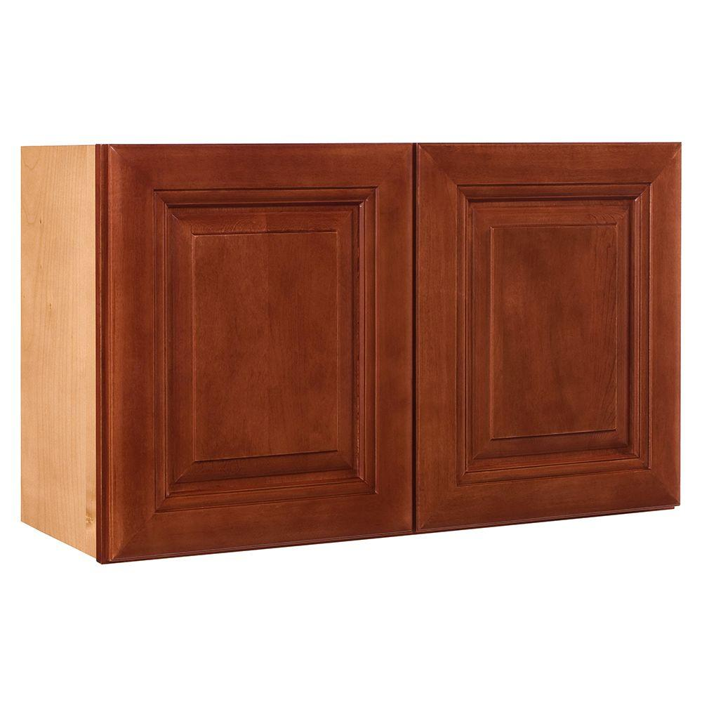 Home decorators collection lyndhurst assembled 30x15x24 in double door wall kitchen cabinet in Home decorators armoire