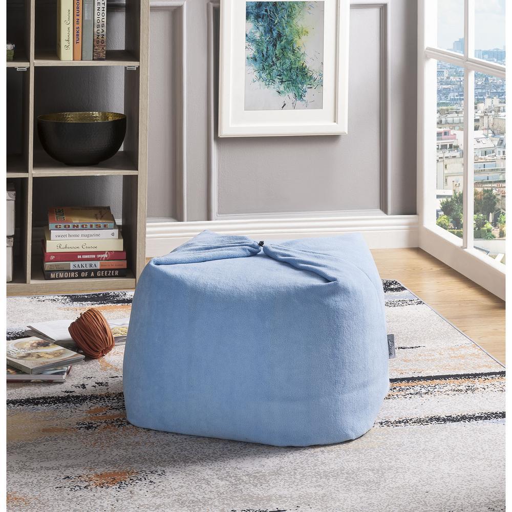 Awesome Loungie Magic Pouf Blue Microplush Bean Bag Chair Machost Co Dining Chair Design Ideas Machostcouk