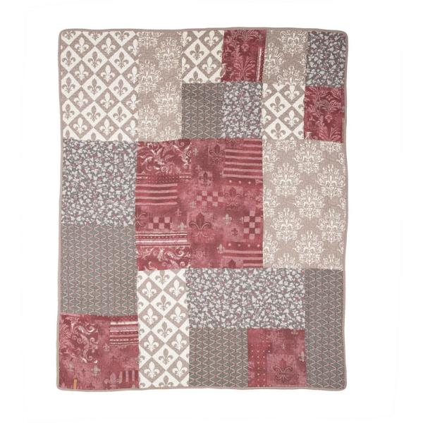 Donna Sharp Fleur De Lis Geometric Square King Quilt (3-Piece Set)