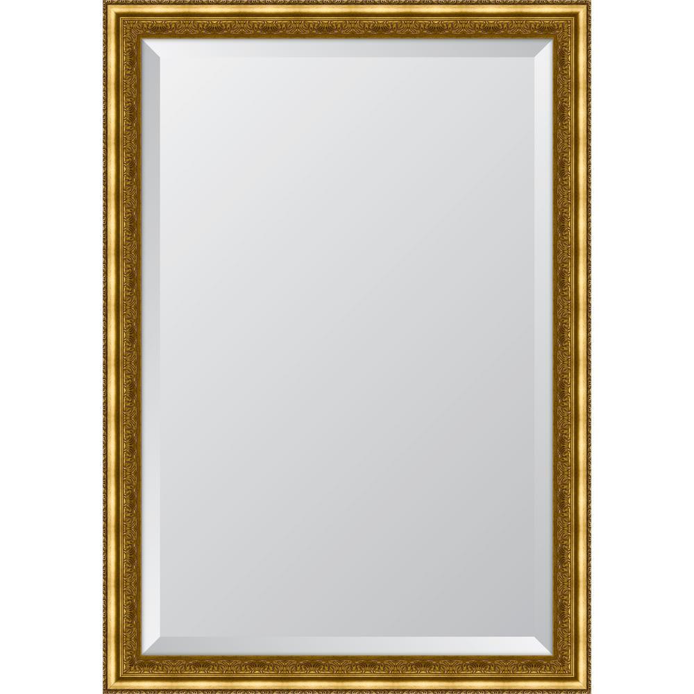 Framed Gold Ornate Mirror