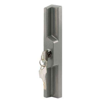 Gray Universal Sliding Door Outside Pull with Key