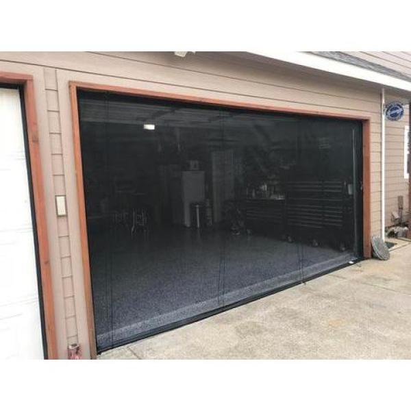 16 ft. x 7 ft. 2-Zipper Garage Door Screen With Rope/Pull