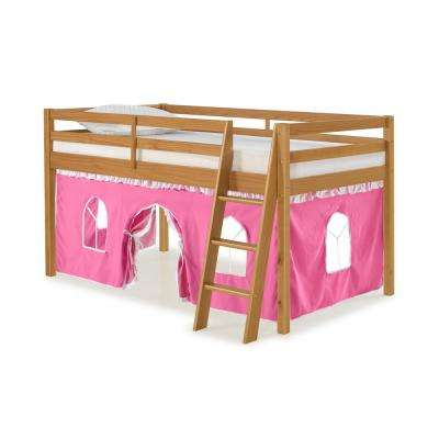 Roxy Cinnamon Junior Loft with Pink and White Bottom Tent
