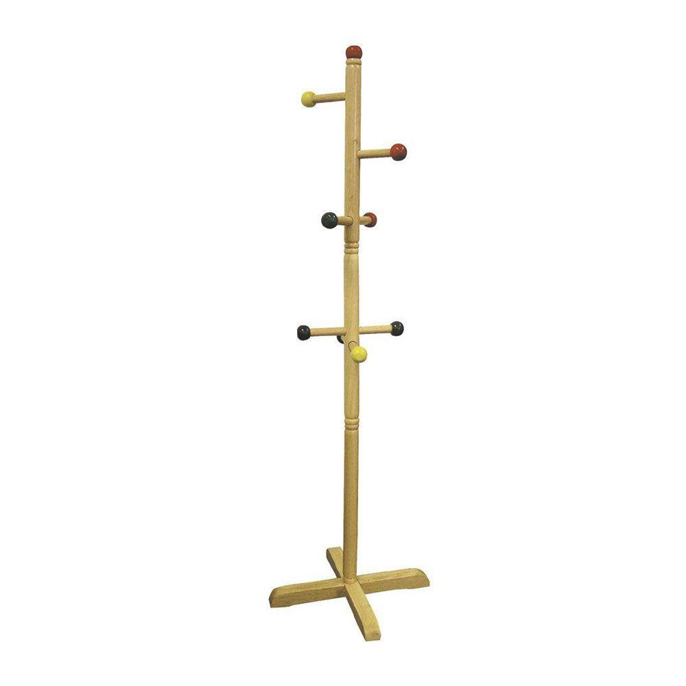 Multi Color 8 Hook Coat Rack
