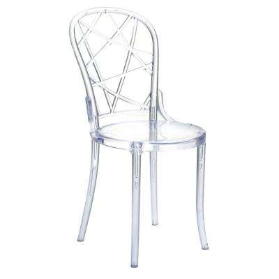 Clear Spiral Dining Chair