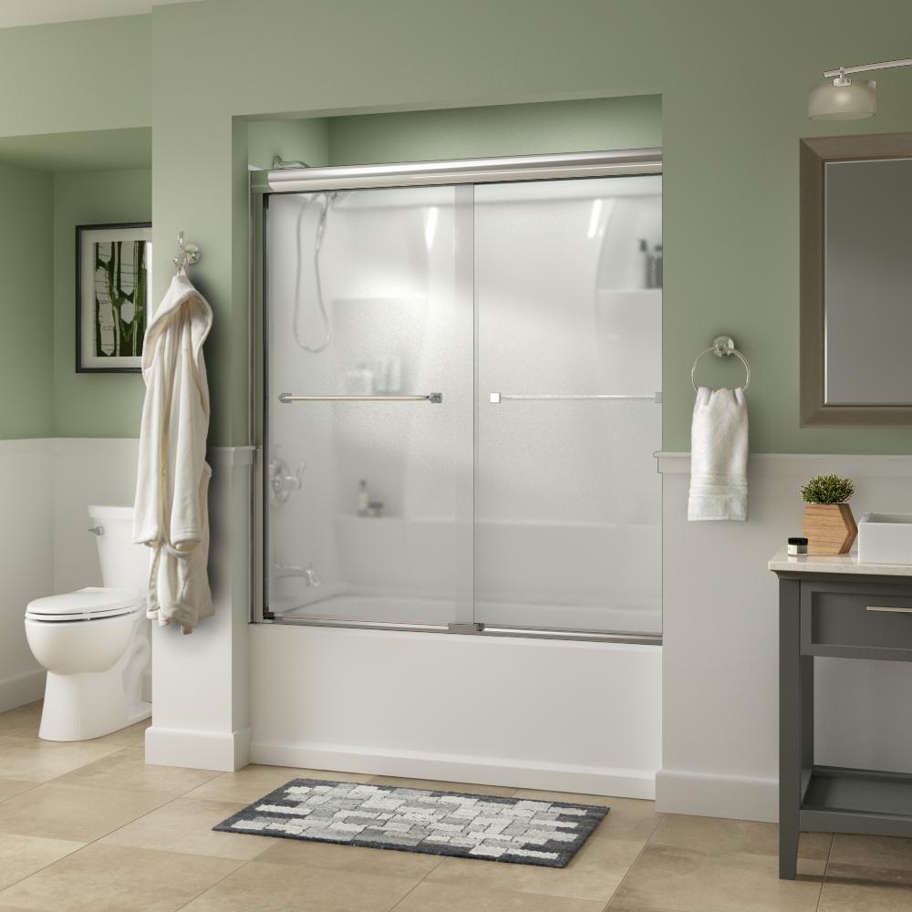 60 In X 56 3 8 In Framed Sliding Bathtub Door Kit In