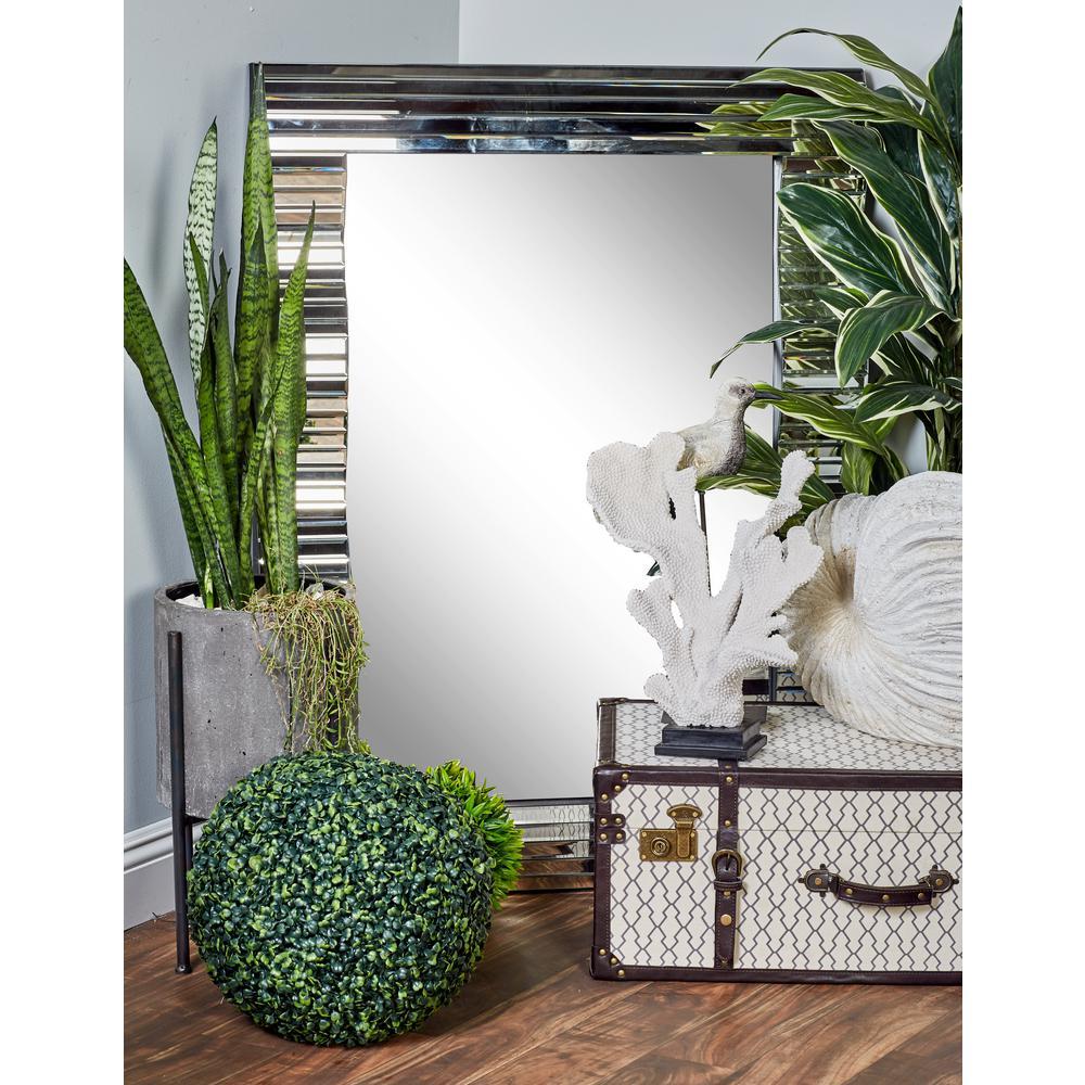 Rectangular Silver Dresser Wall Mirror