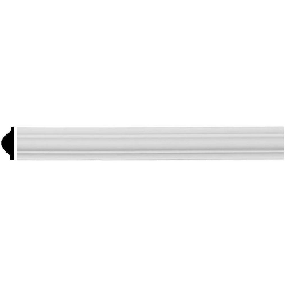 Ekena millwork 5 8 in x 7 8 in x 96 in polyurethane for Millwork definition
