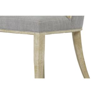 Sofia Grey Linen Back Dining Chair With Handle Set Of 2