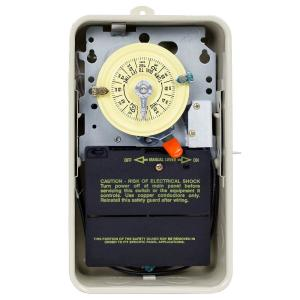 T101R201 40 Amp 24-Hour Mechanical Time Switch with Outdoor Steel Enclosure and Pool Heater Protection