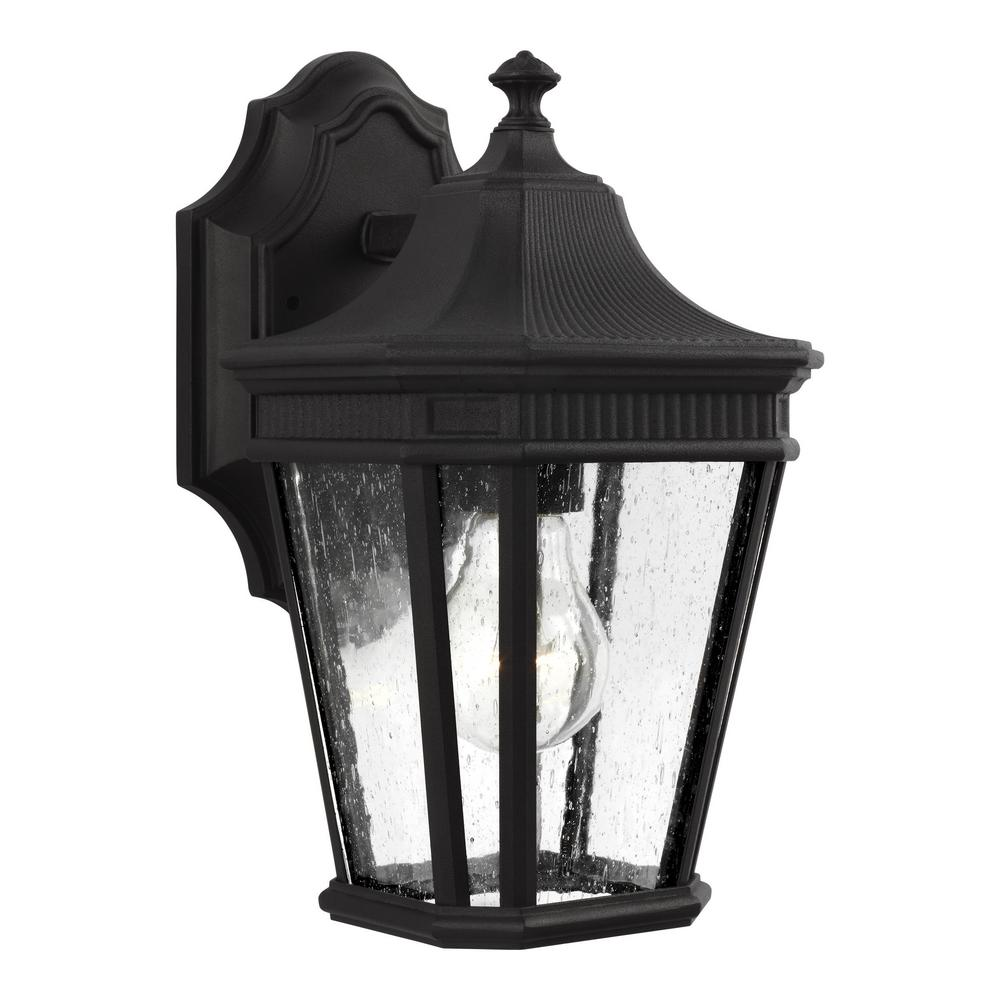 Cotswold Lane 1-Light Black Outdoor Wall Mount Lantern