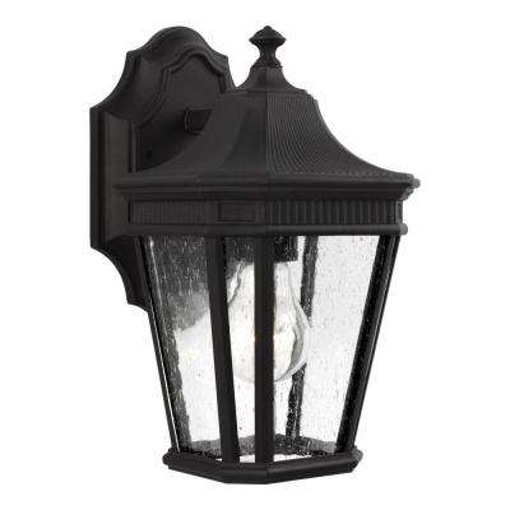 Cotswold Lane 1-Light Black Outdoor Wall Mount Lantern