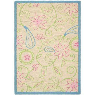 Kids Ivory/Blue 4 ft. x 6 ft. Area Rug