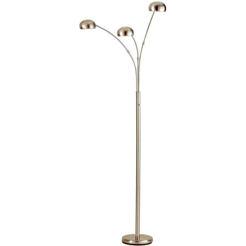 Delightful Satin Steel Arc Floor Lamp
