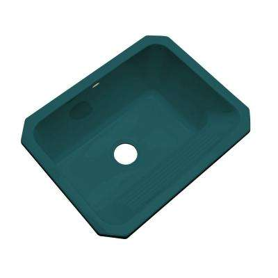 Kensington Undermount Acrylic 25 in. Single Bowl Utility Sink in Teal