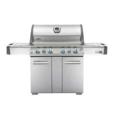 LEX 605 with Side Burner and Infrared Bottom and Rear Burners Natural Gas Grill in Stainless Steel