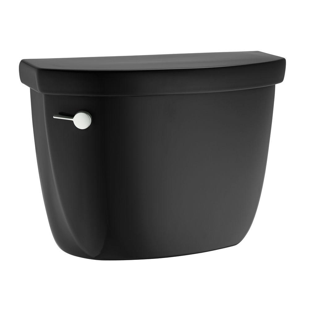 KOHLER Cimarron 1.6 GPF Toilet Tank Only in Black-DISCONTINUED