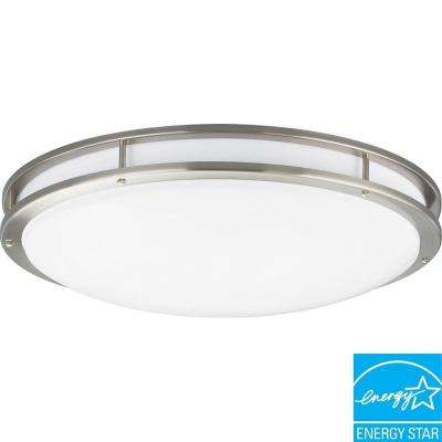 3-Light Brushed Nickel Fluorescent Fixture