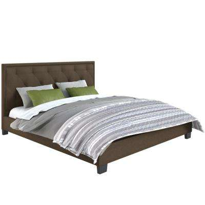 Fairfield Brown Diamond Tufted Upholstered King Bed
