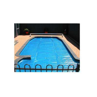 28 ft. Round Heat Wave Solar Blanket Swimming Pool Cover in Blue