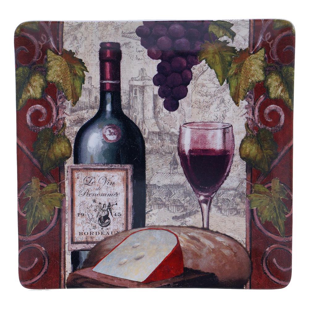 Wine Tasting 14.25 Square Platter by