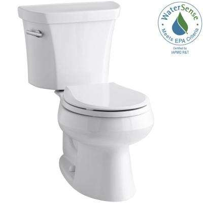 Wellworth 2-piece 1.28 GPF Single Flush Round Toilet in White