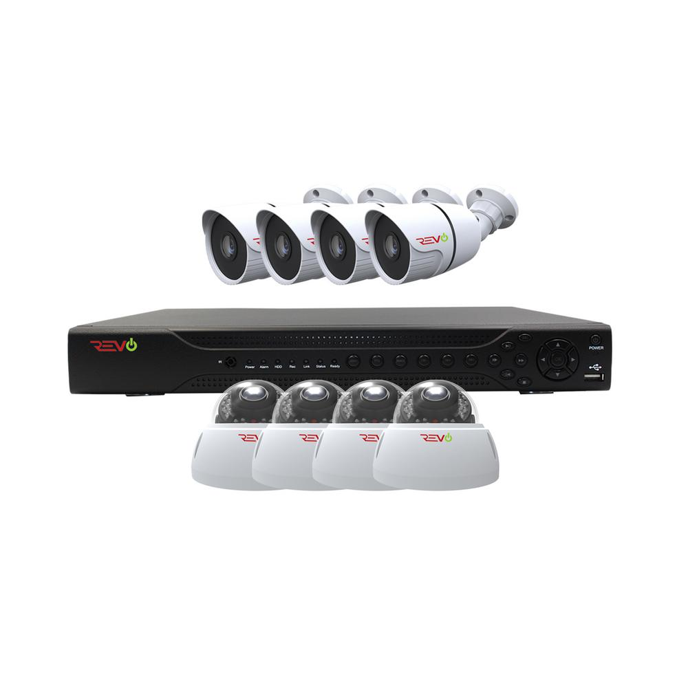 Revo Aero HD 1080p 16-Channel Video Security System with 8 Indoor/Outdoor Cameras