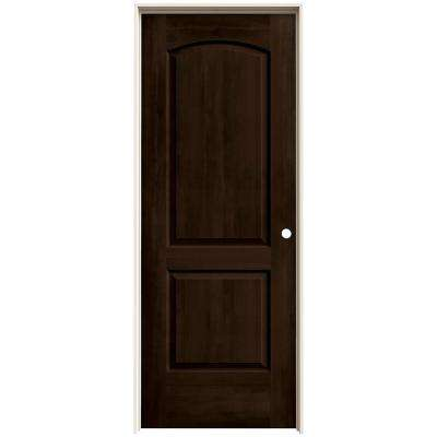 30 in. x 80 in. Continental Espresso Stain Left-Hand Molded Composite MDF Single Prehung Interior Door