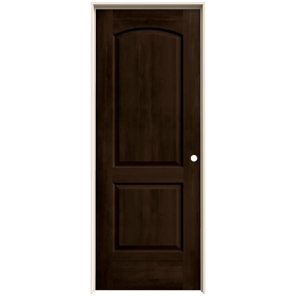 Jeld wen 24 in x 80 in continental espresso stain left for Solid interior doors