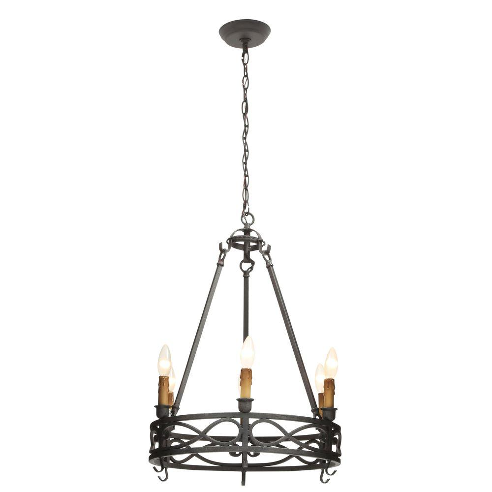World Imports 6-Light Textured Rust Smallest Chandelier was $178.92 now $71.4 (60.0% off)