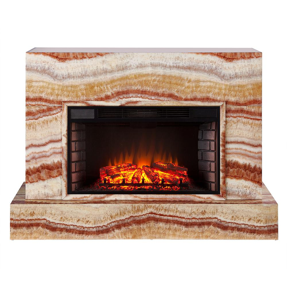 Southern Enterprises Mendelyn 57 In Tv Stand Electric Fireplace In