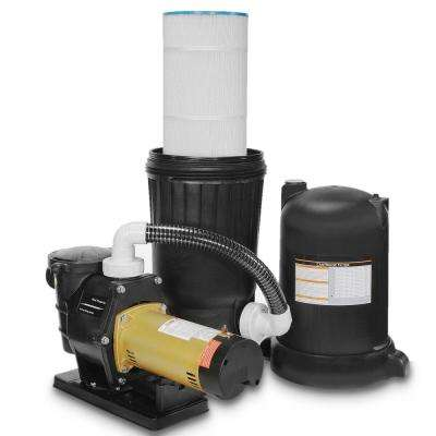200 sq. ft. Cartridge Filter System with 2 HP Dual Speed Pool Pump and Stand