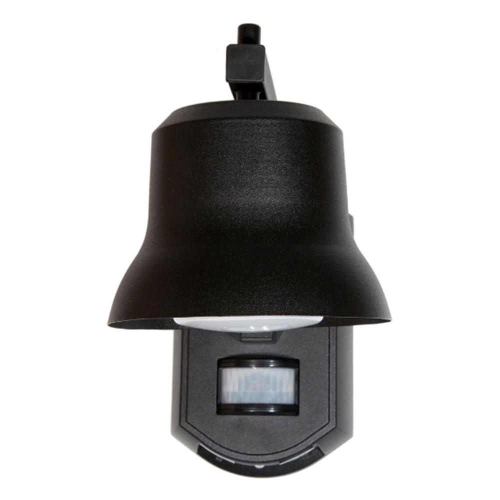 Its Exciting Lighting Black Outdoor Porch Light with Motion