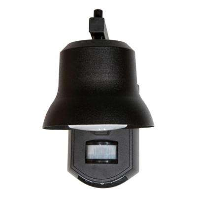 Black Outdoor Porch Light with Motion Detector