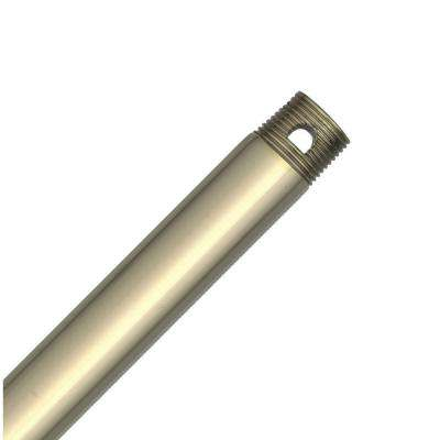 Hang-Tru Perma Lock 12 in. Bright Brass Extension Downrod for 10 ft. ceilings