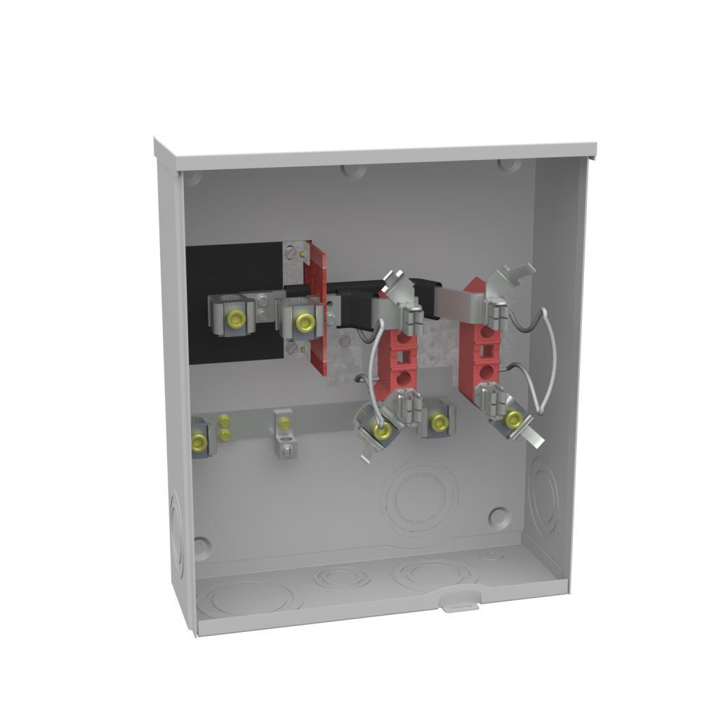 200 Amp Ringless Sideway Wire Way Underground Horn Bypass Meter Socket