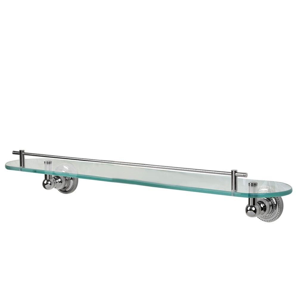Barclay Products Nevelyn 23-5/8 in. W Shelf in Glass and Polished Chrome