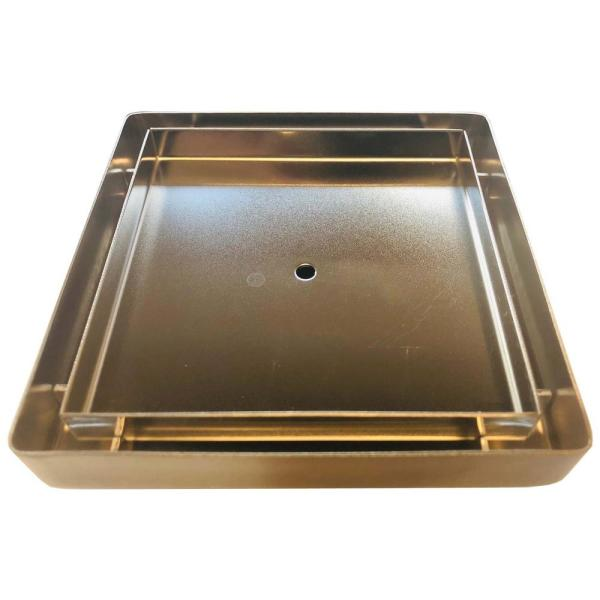 5 in. x 5 in. Square Stainless Steel Tile In Grate