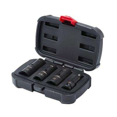 1/2 in. Drive Impact Flip Socket Set (4 Piece)