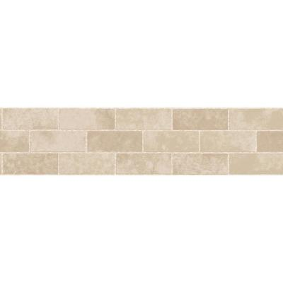 Stone Tile Peel and Stick Wallpaper Border